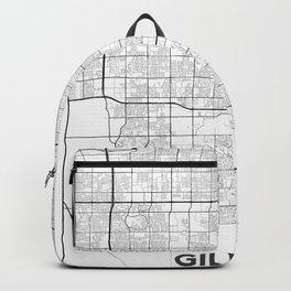 Minimal City Maps - Map Of Gilbert, Arizona, United States Backpack