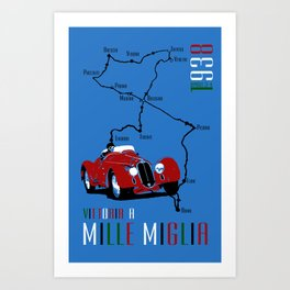 Mille Miglia 1938 Art Print