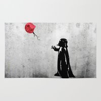 banksy Area & Throw Rugs featuring Little Vader - Inspired by Banksy by kamonkey