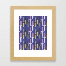 Double Knife Purple Pattern Framed Art Print