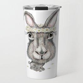 Rabbit with Flower Travel Mug