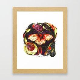 Moon Flower Moth Framed Art Print