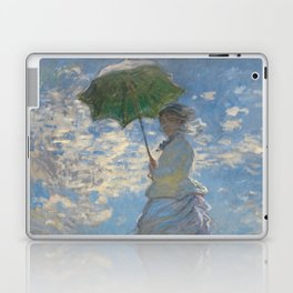 Woman with a Parasol - Madame Monet and Her Son Laptop & iPad Skin