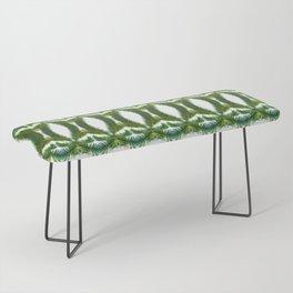 Palm Leaf Kaleidoscope (on white) #2 Bench