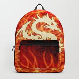 Wonderful golden dragon Backpack