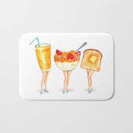 Breakfast Pin-Ups Bath Mat
