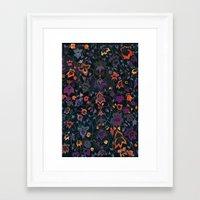 bali Framed Art Prints featuring Bali Floral by Nikkistrange