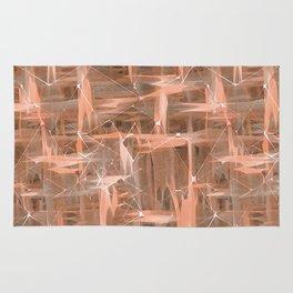 Coral geometric pattern. Rug