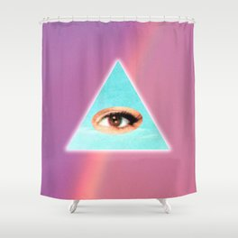 Eye see You (Purple) Shower Curtain