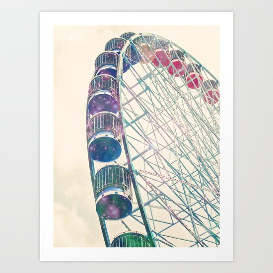 Galaxy Wheel Art Print