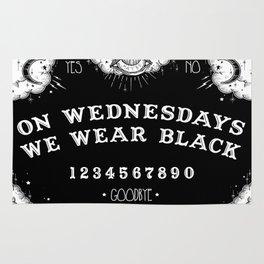 ☽ ON WEDNESDAYS WE WEAR BLACK ☾ Rug