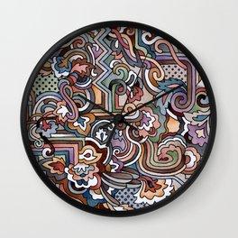 Rayas y rulos Wall Clock