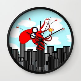 King Kraken Battles over New York Wall Clock