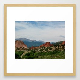 Garden of the Gods in Colorado Springs Framed Art Print