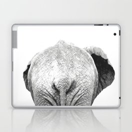 Black and white elephant animal jungle Laptop & iPad Skin