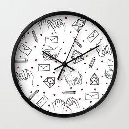 Love Letter Pattern Wall Clock