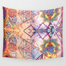 Hindu Geo Psych Wall Tapestry