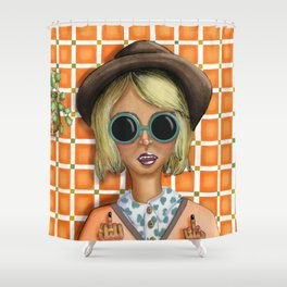 You Should Smile More (Jess) Shower Curtain
