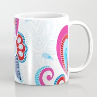 henna Mugs featuring Henna Colourful by nicky9