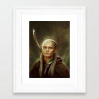 legolas Framed Art Prints featuring Legolas by taryndraws2