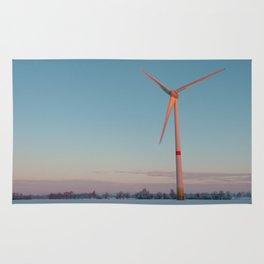 Wind Turbine at dawn Rug