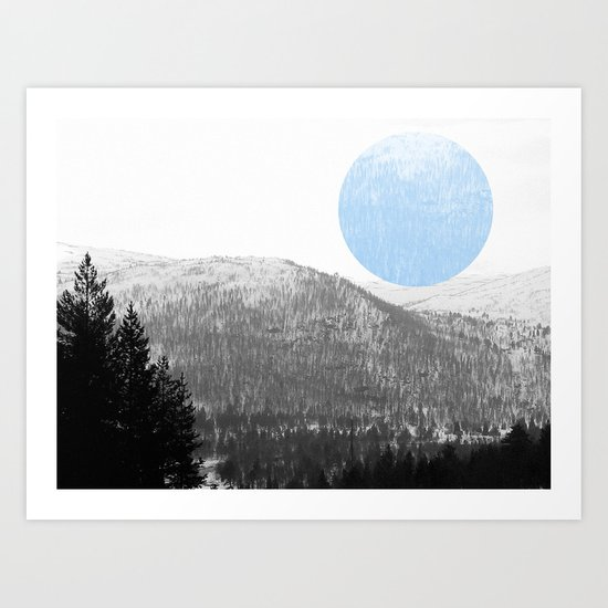 The Circle In The Mountains II Art Print