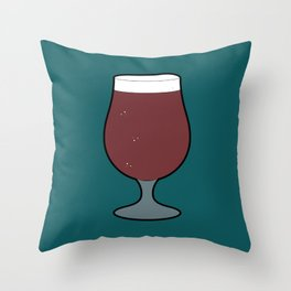 Beer Glass (Tulip) Throw Pillow