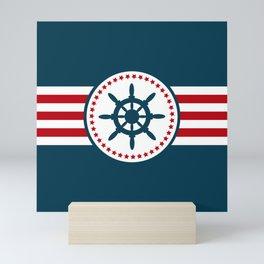 Sailing wheel 2 Mini Art Print