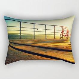 sunrise on the deck Rectangular Pillow