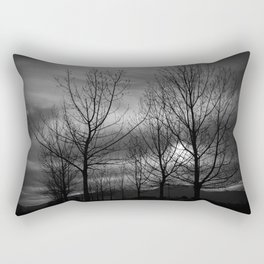 B&W Landscape Rectangular Pillow