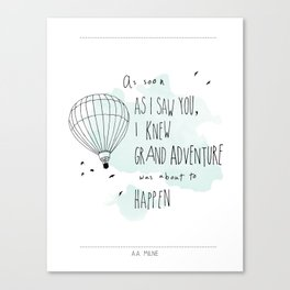 A. A. Milne Quote Canvas Print