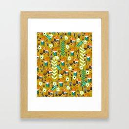 Autumn gnome garden Framed Art Print