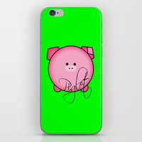 piglet iPhone & iPod Skins featuring Piglet by Miaa