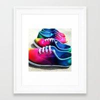 sneakers Framed Art Prints featuring sneakers by NatalieBoBatalie