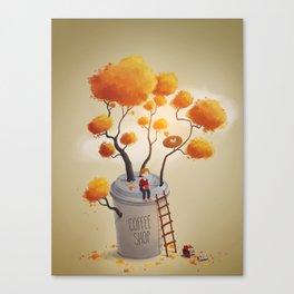 Coffee Shop Tree Canvas Print