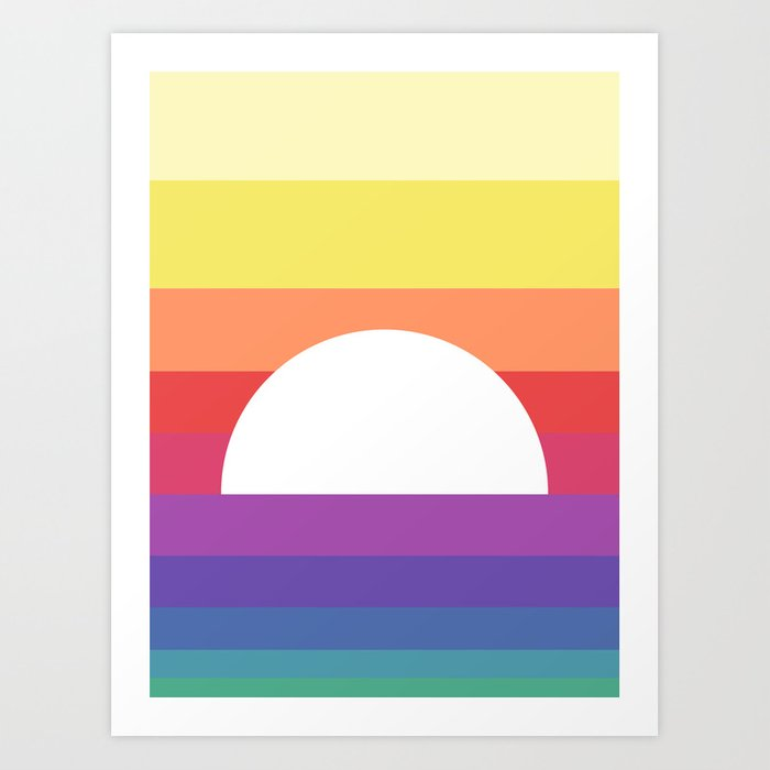 saturday sunset Art Print