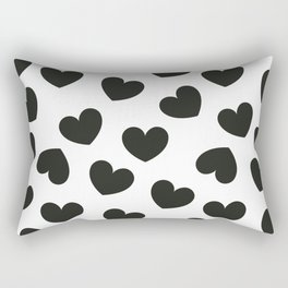 Black & white hearts pattern Rectangular Pillow