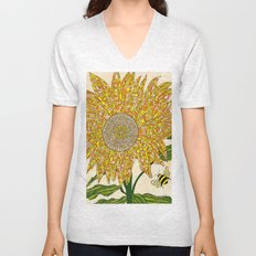 Georgia Sunflower Unisex V-Neck