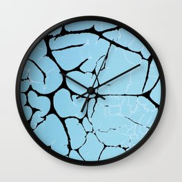cracked blue paint Wall Clock