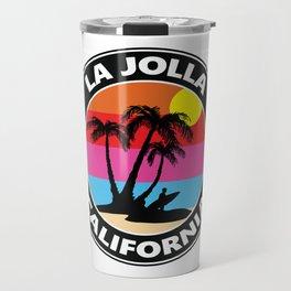 Surf La Jolla California Travel Mug