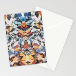 Rorschach Flowers 4 Stationery Cards