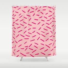 Pink Hundreds & Thousands Pattern Shower Curtain