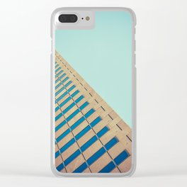 Diagonal Architecture Abstract Clear iPhone Case