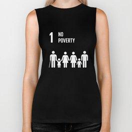 1 No Poverty Global Goals  Biker Tank