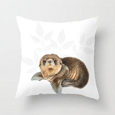 baby seal Throw Pillow