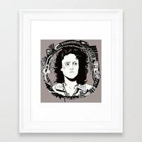 ripley Framed Art Prints featuring ELLEN RIPLEY by marimattes
