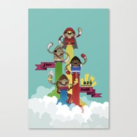 street fighter Canvas Prints featuring Street Fighter 25th Anniversary!!! by Ed Warner