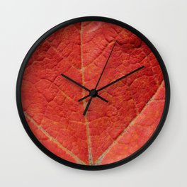 Macro Leaf Photography Print Wall Clock