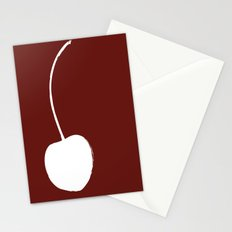 Cherry Fruit Silhouette Stationery Cards