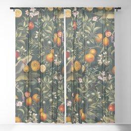 Vintage Fruit Pattern XXII Sheer Curtain